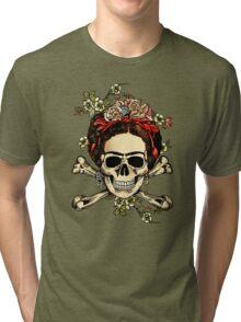 Masterpiece Skull Frida Tri-blend T-Shirt