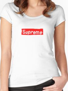 Fake ass Supreme Women's Fitted Scoop T-Shirt