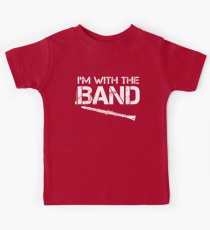 I'm With The Band - Clarinet (White Lettering) Kids Tee
