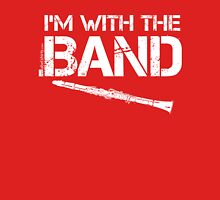 I'm With The Band - Clarinet (White Lettering) Womens Fitted T-Shirt
