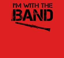 I'm With The Band - Clarinet (Black Lettering) Womens Fitted T-Shirt