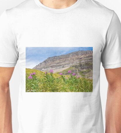 Meadow of Fireweed Below the Continental Divide Unisex T-Shirt