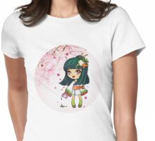 Zushi Geisha with Green Tea - Pink Womens Fitted T-Shirt