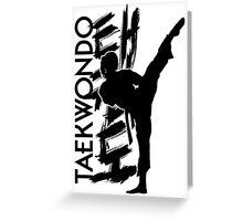 Taekwondo Kick Girl - Korean Martial Art Greeting Card