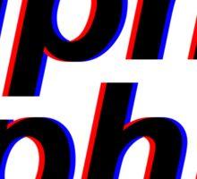 3D Alpha Phi Sticker