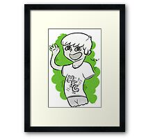High Five Ghost Framed Print