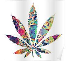 Weed Leaf Trippy Poster