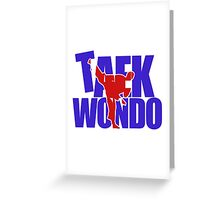 Taekwondo Up Kick - Korean Martial Art Greeting Card
