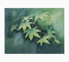 Japanese Maple Watercolor Painting Kids Tee