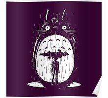 cute raining umbrela totoro Poster