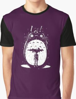 cute raining umbrela totoro Graphic T-Shirt