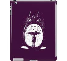 cute raining umbrela totoro iPad Case/Skin