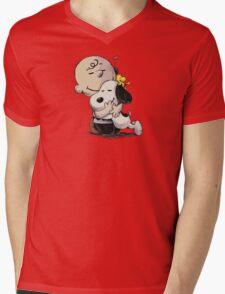 Everything Will Be Okay Peanuts Mens V-Neck T-Shirt