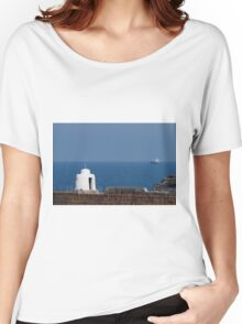 The Monkey Hut on Portreath Pier Women's Relaxed Fit T-Shirt