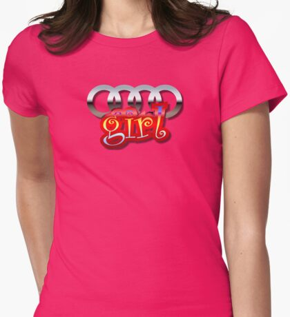 Audi Girl Womens Fitted T-Shirt