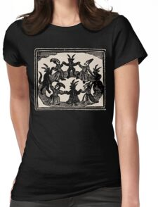Witches Circle Dance Womens Fitted T-Shirt