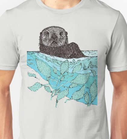 Sea Otter Sketch Color Unisex T-Shirt