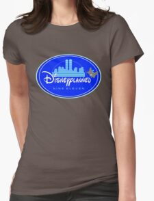 """""""DI$NEYPLANNED"""" Blue Logo v.2  (dark color tees)  Womens Fitted T-Shirt"""
