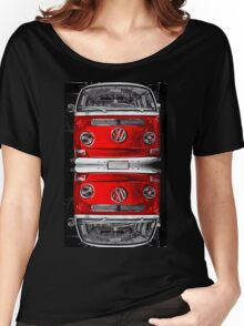 Volkswagen combi Red Twin Women's Relaxed Fit T-Shirt