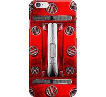 Red combi Volkswagen pattern iPhone Case/Skin