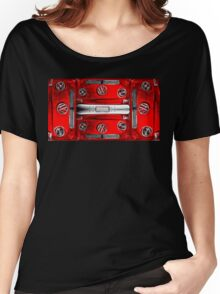 Red combi Volkswagen pattern Women's Relaxed Fit T-Shirt