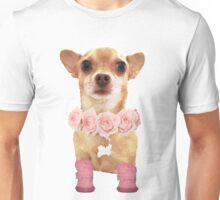 Chihuahua with Roses Unisex T-Shirt