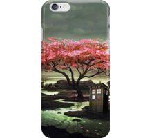 Tardis Blossom Art Painting iPhone Case/Skin