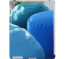 Blue sitting bags in the garden. iPad Case/Skin