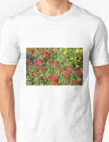 Colorful flowers in the park. T-Shirt