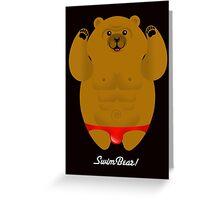 SPEEDO SWIMBEAR Greeting Card