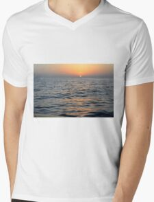 Sunset at the sea. Mens V-Neck T-Shirt