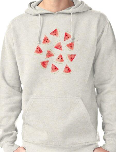 Watercolor Watermelon Pattern #redbubble #lifestyle T-Shirt