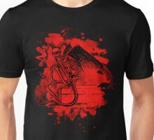 Sitting Demon – bleached red Unisex T-Shirt