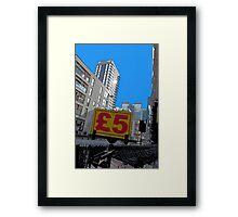 Cheap skyline! Framed Print