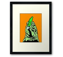 Green and Orange Alberta Chicken. Framed Print