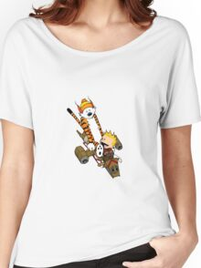 captain calvin and hobbe Women's Relaxed Fit T-Shirt