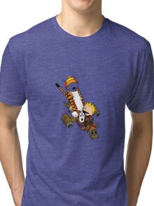 captain calvin and hobbe Tri-blend T-Shirt