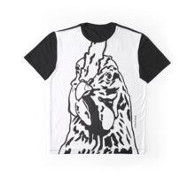 Black and White Alberta Chicken by JTownsend Graphic T-Shirt