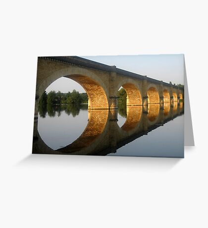 Reflected  Tranquility -  Mauzac, France Greeting Card