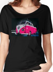 VW camper Pinky  Women's Relaxed Fit T-Shirt