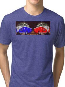 Volkswagen Combi Duo Blue & Red  Tri-blend T-Shirt
