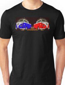 Volkswagen Combi Duo Blue & Red  Unisex T-Shirt