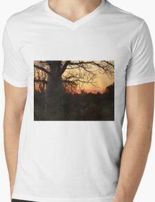 Kimberley Sunset with boab tree, Western Australia Mens V-Neck T-Shirt