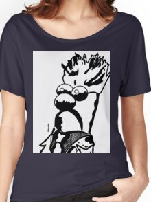 Black and White Beaker by JTownsend Women's Relaxed Fit T-Shirt
