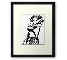 Black and White Beaker by JTownsend Framed Print