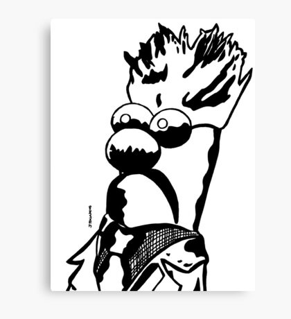 Black and White Beaker by JTownsend Canvas Print