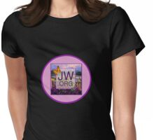 JW.ORG Logo With a Meadow Full of Flowers Womens Fitted T-Shirt