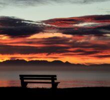 Sunrise On False Bay Sticker