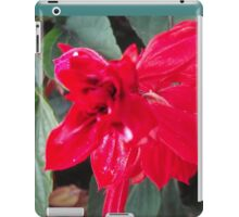 Right Red Flower iPad Case/Skin