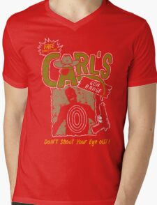 Carl's Gun Range - Don't Shoot Your Eye Out! Mens V-Neck T-Shirt